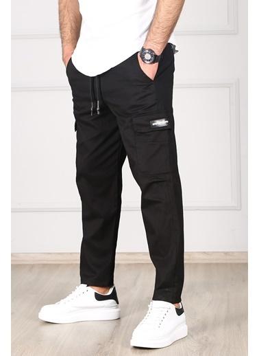 Madmext   Kargo Cep Jogger Pantolon 4835 Siyah